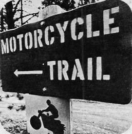Early signage circa 1972.  PC; Tom Strongman for Cycle World Magazine.