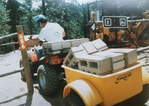 Trail work on 686 circa 1980.  PC: Jim Peasley